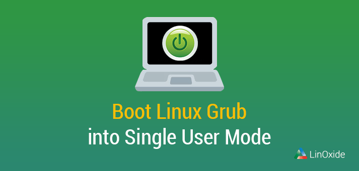 how to boot grub in single user mode