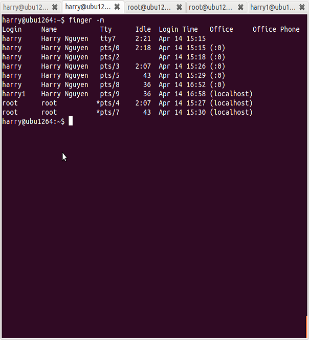 Linux Finger Command To Find User Details