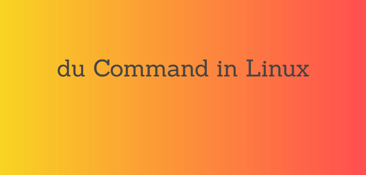 How to Use du Command in Linux