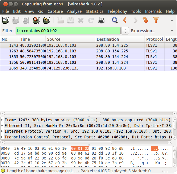 wireshark bytes filter