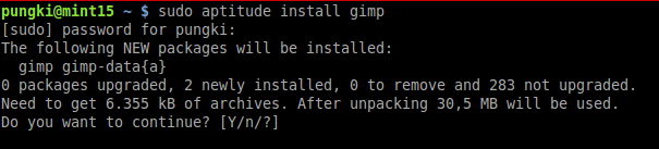 Install package via CLI