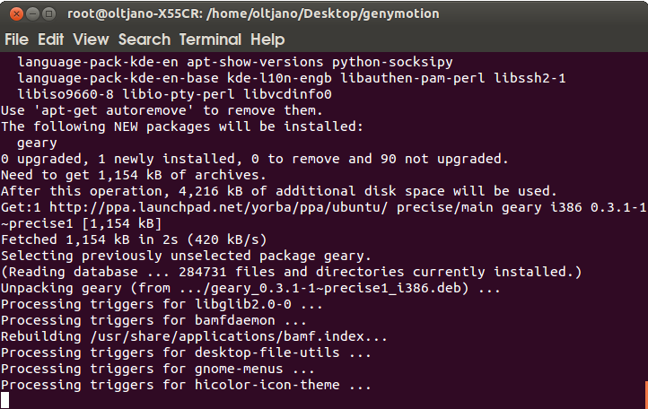 installing geary email client