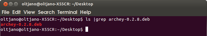 how to install the latest archey tool in ubuntu and debian