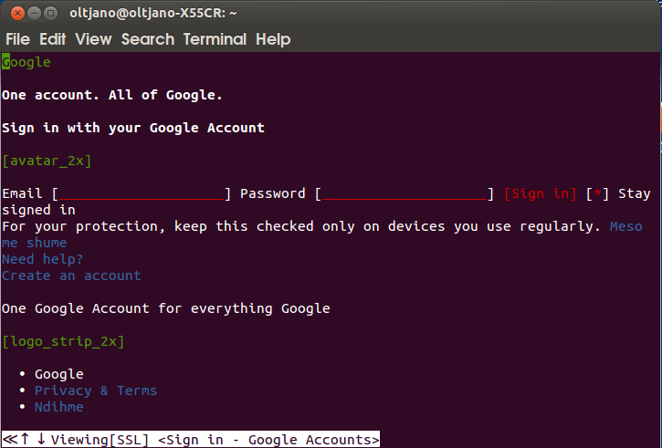 how to google from terminal