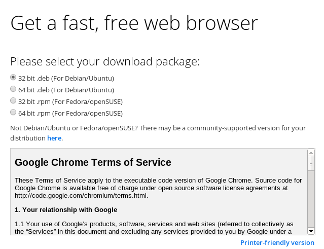 download google chrome for linux