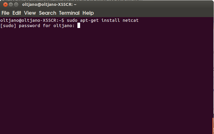 install netcat in linux and build a simple chat