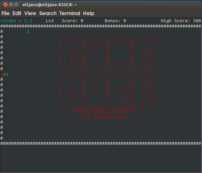 how to install snake game in linux