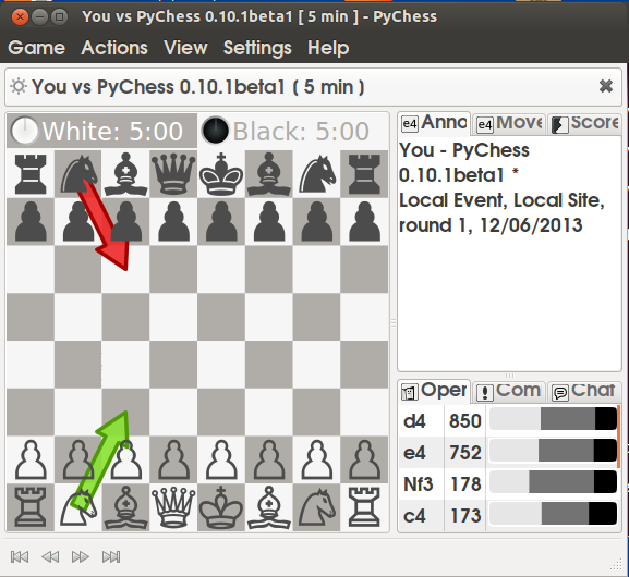 how to install pychess in linux, play chess in linux