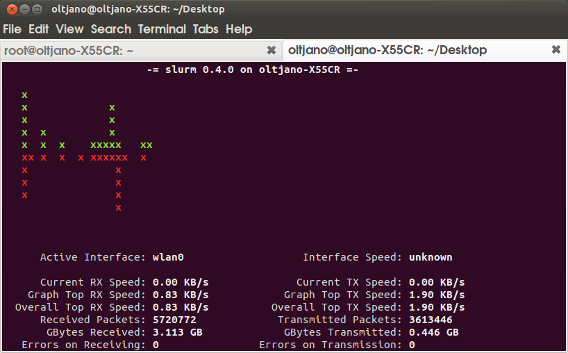install slurm network load monitor tool in linux