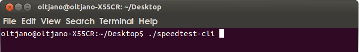 how to test your internet speed from the terminal