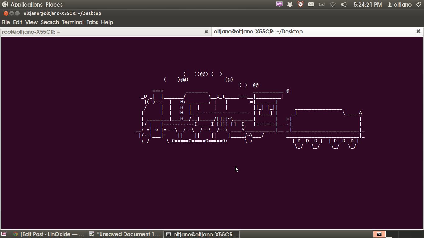 install steam locomotive in linux