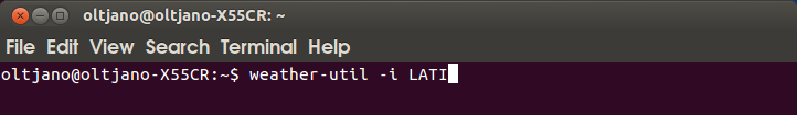 how to get weather information from the terminal