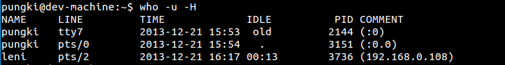 Add Idle Time and PID