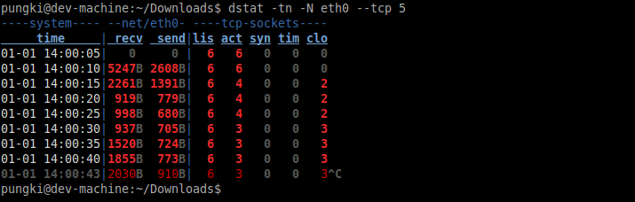 dstat with delay