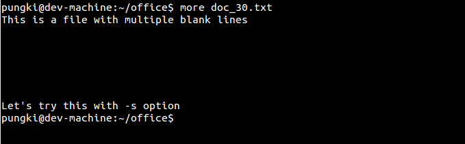 File with blank lines