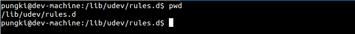 Pwd in bash