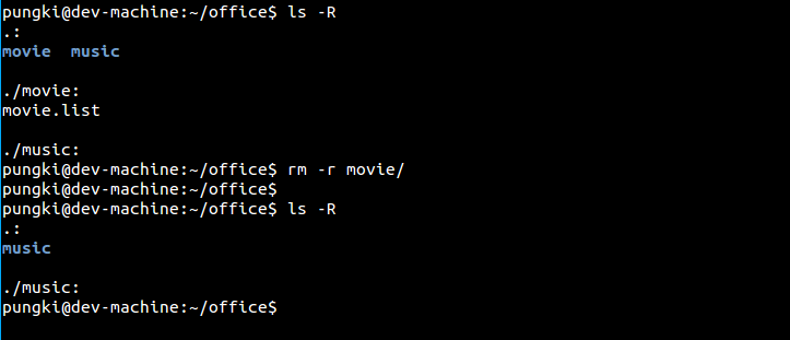 linux rm command examples