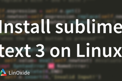 sublime text3 install