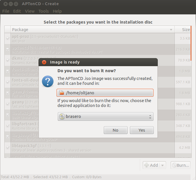 how to backup installed packages in ubuntu