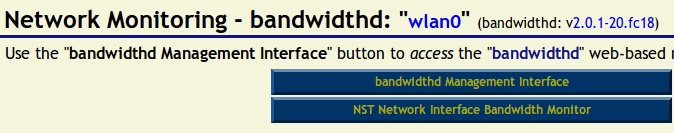 Interface for bandwidthd