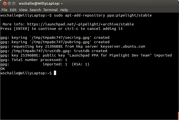 The Pipelight repository lists details about the files
