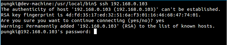 Connecting to SSH