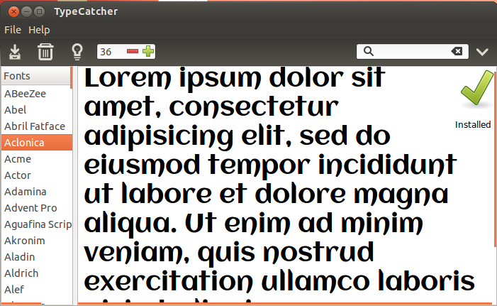 how to install google fonts in ubuntu