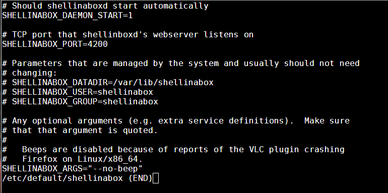 Configure Shellinabox Ubuntu