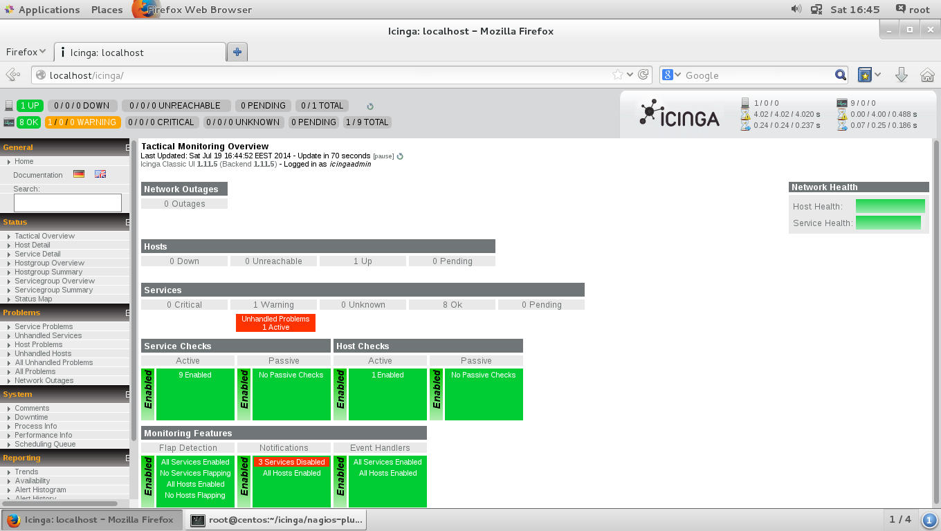 Install and Configure Icinga in Linux - A Network Monitoring