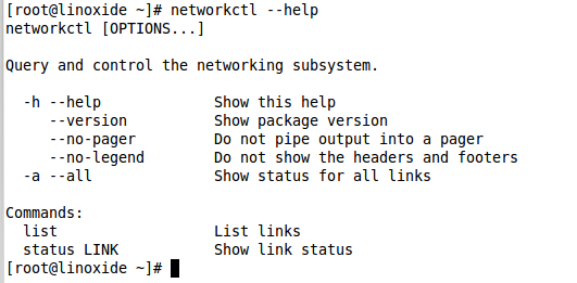 Check networkctl command