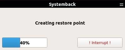 systemback restore point