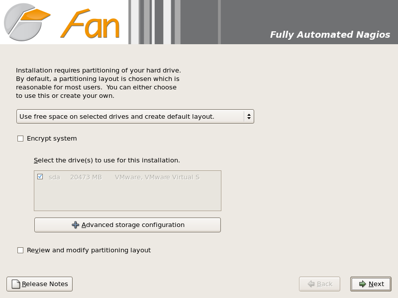 FAN partition