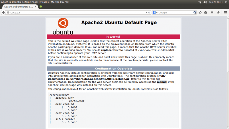 apache working