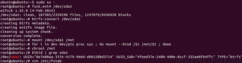 How to Create Btrfs Filesystem in Linux and its Features