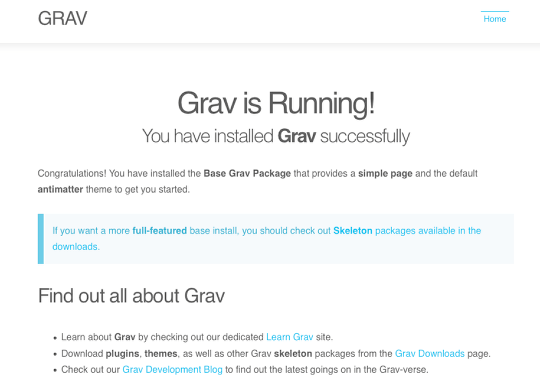 how to set up a grav server