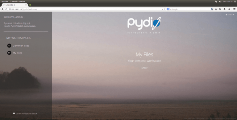 pydio workspaces