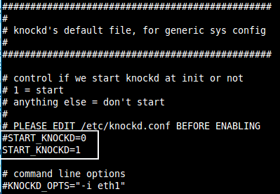 default knockd start file