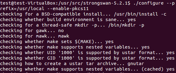 checking packages for strongswan