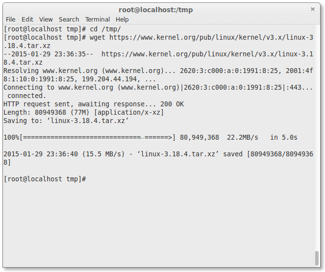 Downloading Linux Kernel Package