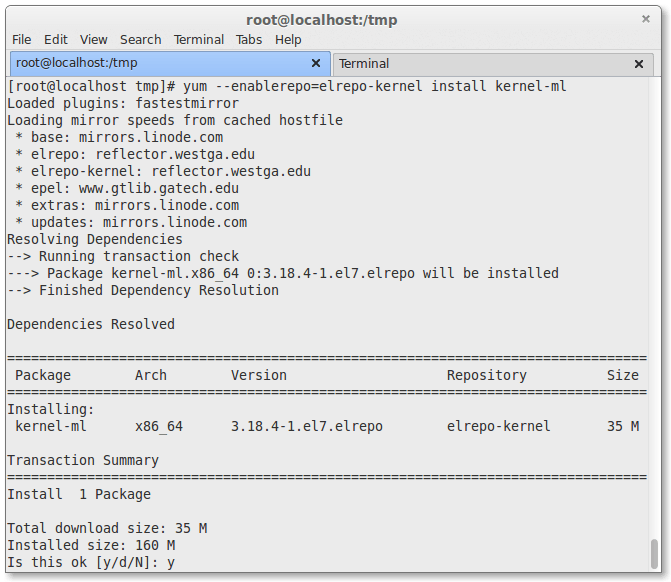 How to Upgrade Linux Kernel to Stable 3 18 4 on CentOS 7 x