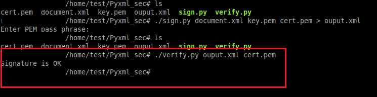 PyXMLsec verification