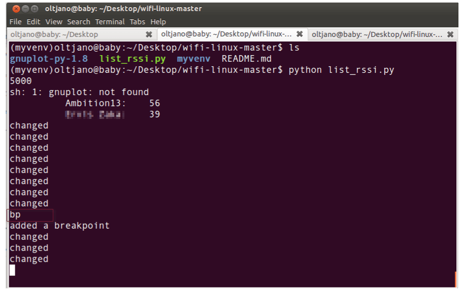 the bp command in wifi-linux