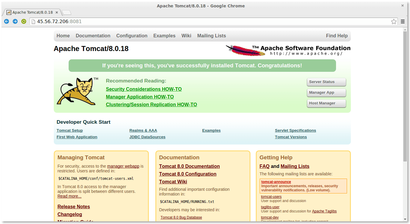 How to Install Apache Tomcat 8 0 x on Linux