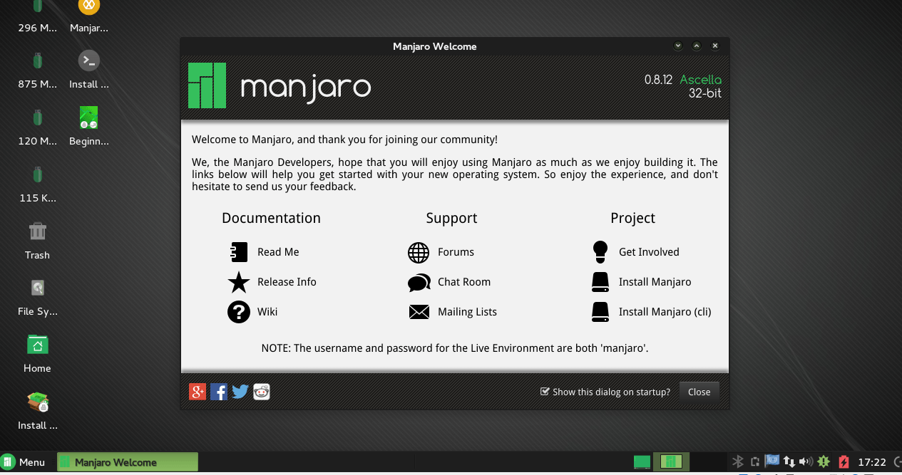 Manjaro Installation Screen