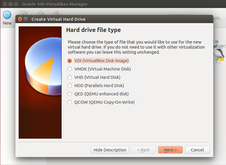 VirtualBox Hard type