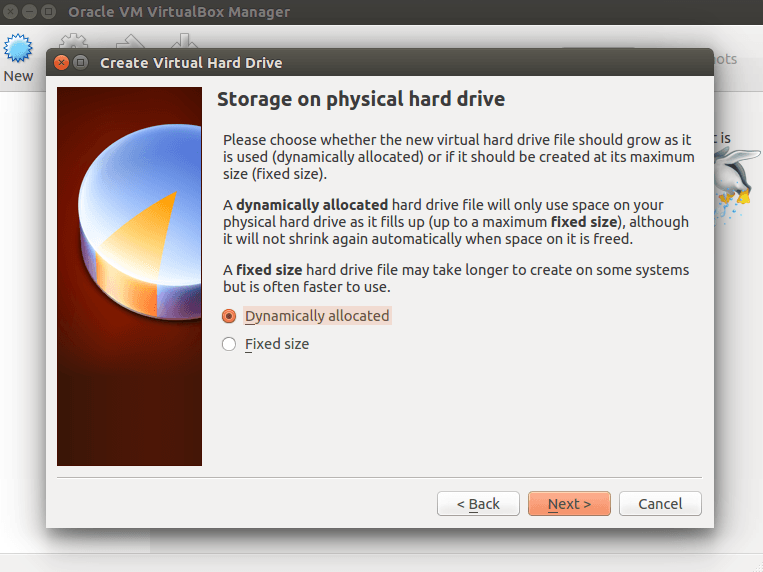 VirtualBox Storage Type