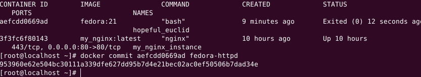 committing fedora httpd