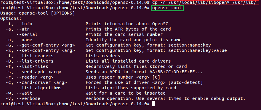 copying opensc libraries