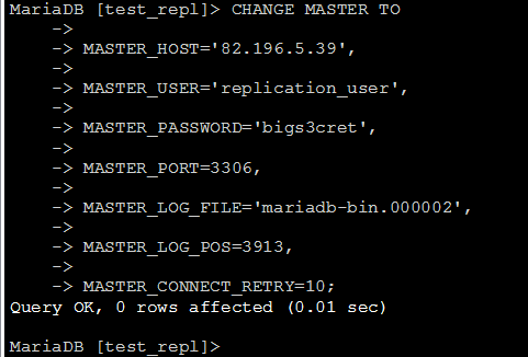 mariadb setup replication