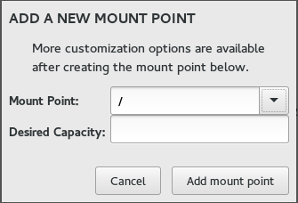 Add Mount Point